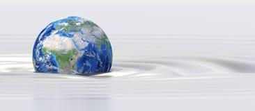 Terra del pianeta in liquido di seta Fotografie Stock Libere da Diritti