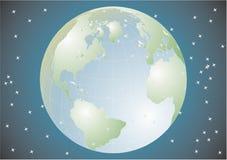 Terra del pianeta nell'universo Immagini Stock Libere da Diritti