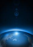Terra del pianeta nello spazio Fotografia Stock Libera da Diritti
