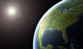 Terra del pianeta - Stati Uniti d'America da spazio Fotografie Stock Libere da Diritti