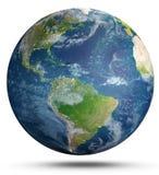 Terra del pianeta su bianco rappresentazione 3d Immagine Stock Libera da Diritti