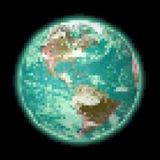 Terra del pixel Fotografie Stock