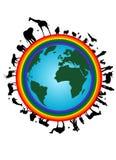 Terra del Rainbow royalty illustrazione gratis