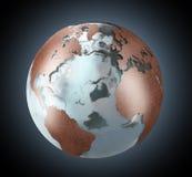 Terra del rame e del ghiaccio illustrazione vettoriale
