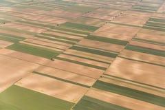 Terra del ` s di vojvodina dal cielo Fotografia Stock