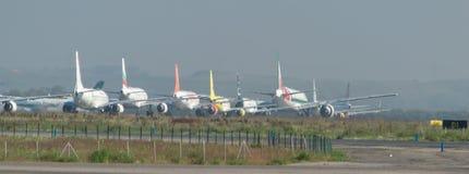 Terra del traffico aereo Fotografia Stock