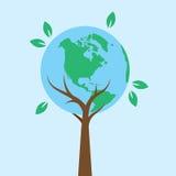 Terra dell'albero Fotografia Stock Libera da Diritti