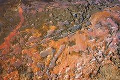 Terra dell'allume, terra alcalina arancio Fotografia Stock Libera da Diritti