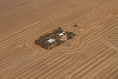 Terra dell'azienda agricola Fotografie Stock Libere da Diritti