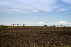 Terra dell'azienda agricola di Arthur Illnois Amish fotografie stock
