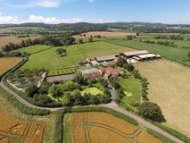 Terra dell'azienda agricola a Somerset Fotografie Stock Libere da Diritti