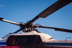 Terra dell'elicottero Fotografia Stock