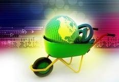 Terra della carriola e segno di trasporto del email Immagine Stock Libera da Diritti