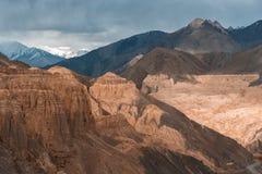 Terra della luna di Lamayuru Leh, India Fotografie Stock Libere da Diritti