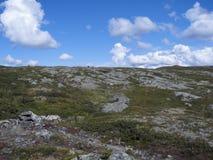 Terra della montagna L'ATO klinten, Hemavan, Svezia, Scandinavia immagini stock