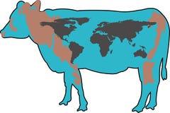 Terra della mucca Fotografia Stock