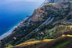 Terra della Sicilia: la costa Est Immagini Stock Libere da Diritti