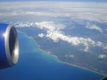 Terra della Tailandia dalla finestra 1 dell'aeroplano Fotografia Stock Libera da Diritti