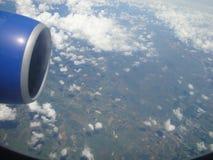 Terra della Tailandia dalla finestra 6 dell'aeroplano Fotografia Stock