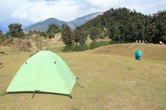 Terra della tenda di Deoria Tal. Fotografia Stock