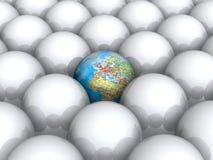 Terra dentro das esferas brancas ilustração royalty free