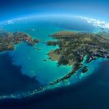 Terra detalhada. Chukotka, Alaska ilustração stock