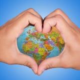 Terra di amore Immagine Stock