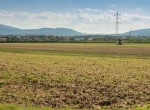 Terra di azienda agricola, campo del raccolto Fotografie Stock Libere da Diritti