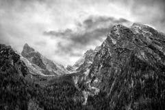 Terra di Berchtesgaden nell'orario invernale Fotografia Stock