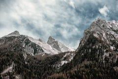 Terra di Berchtesgaden nell'orario invernale Fotografia Stock Libera da Diritti
