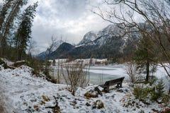Terra di Berchtesgaden nell'orario invernale Fotografie Stock