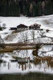 Terra di Berchtesgaden nell'orario invernale Immagine Stock