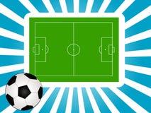 Terra di calcio Immagini Stock