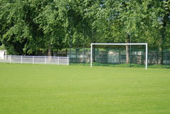 Terra di calcio, gioco del calcio Fotografia Stock