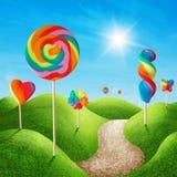 Terra di Candy Fotografia Stock Libera da Diritti
