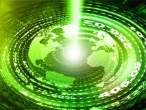 Terra di Digital con le fibre ottiche Fotografia Stock Libera da Diritti
