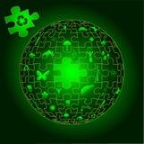 Terra di Eco nelle parti di puzzle Immagine Stock Libera da Diritti