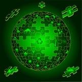 Terra di Eco nelle parti di puzzle Fotografie Stock