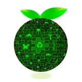 Terra di Eco nelle parti di puzzle Immagini Stock