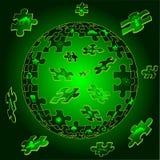 Terra di Eco nelle parti di puzzle Immagine Stock