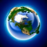 Terra di ecologia Fotografia Stock Libera da Diritti