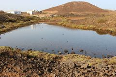 Terra di Los Lobos Fuerteventura 2018 fotografia stock