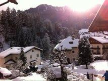 Terra di meraviglia di inverno Immagine Stock