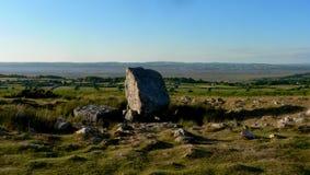 Terra di sepoltura di pietra del Arthur (Maen Ceti) nel Galles Fotografia Stock Libera da Diritti
