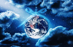 Terra di speranza di pace di Natale del mondo Immagine Stock Libera da Diritti