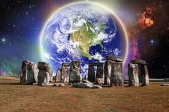 Terra di Stonehenge illustrazione di stock