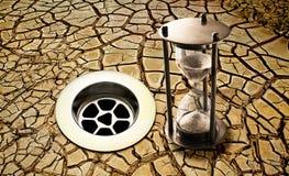 Terra di tempo di siccità dello scolo dell'acqua Immagine Stock