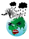 Terra di tristezza royalty illustrazione gratis