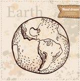 Terra. Disegnato a mano. Vettore ENV 8 Illustrazione di Stock
