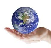 Terra a disposizione immagini stock